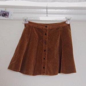 brandy melville ribbed skater skirt